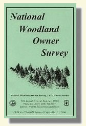 Picture of National Woodland Owner Survey booklet.